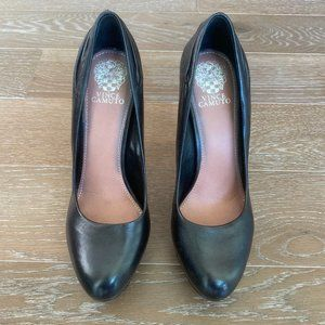 Vince Camuto Pleated Round Toe Pumps   Black   9.5
